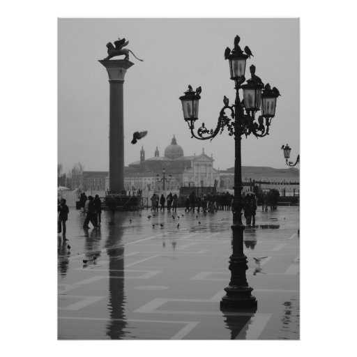 Rainy day in Venice Posters
