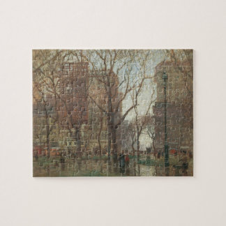 Rainy Day, Madison Square, New York, Paul Cornoyer Jigsaw Puzzle