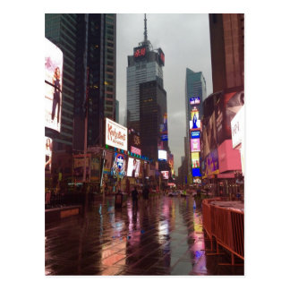 Rainy Day New York City Times Square NYC Postcard