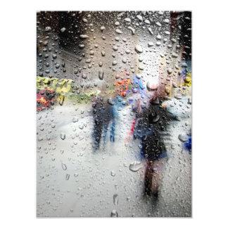 Rainy Day NYC Abstract Photograph