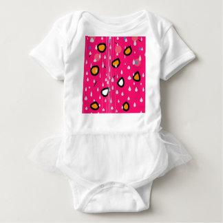 Rainy day - pink baby bodysuit