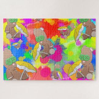 Rainy Day Teddies Large Puzzle