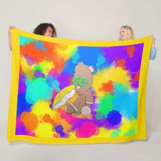 Rainy Day Teddy Large Blanket