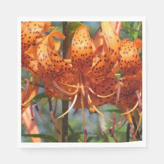 Rainy Day Tiger Lilies Paper Napkin