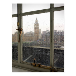 Rainy Day View on Big Ben - London Postcard