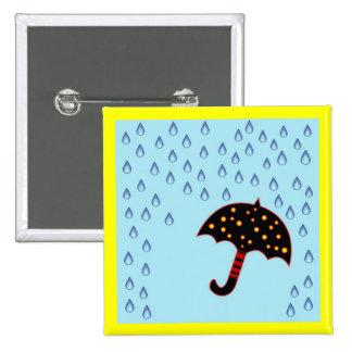 rainy day with umbrella pins