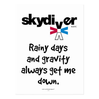 Rainy Days and Gravity Postcard