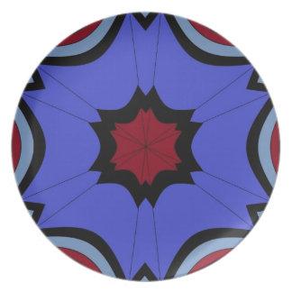 rainy days under umbrella skies plate