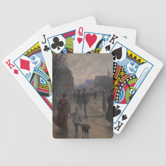 Rainy Evening on Hennepin Avenue, c.1902 Bicycle Playing Cards