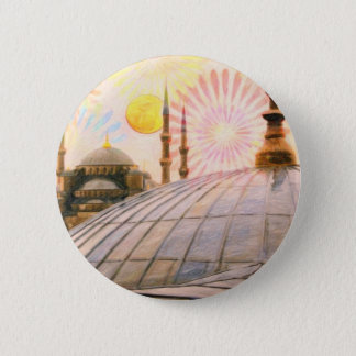 Rainy Istanbul 6 Cm Round Badge