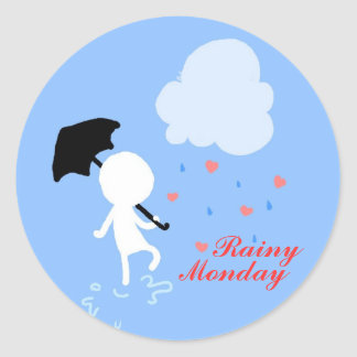 Rainy Monday Rain Rain Sticker