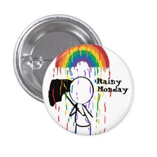 Rainy Monday Rainbow Button