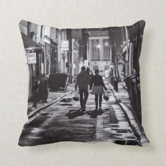 Rainy Night in the City Cushion