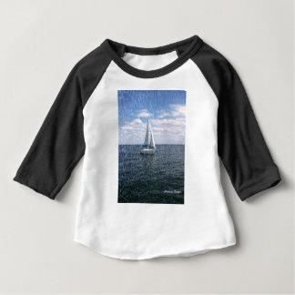 Rainy Sail Boat Baby T-Shirt