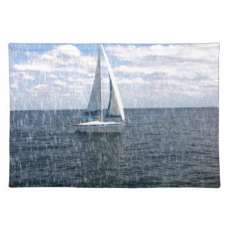 Rainy Sail Boat Placemat