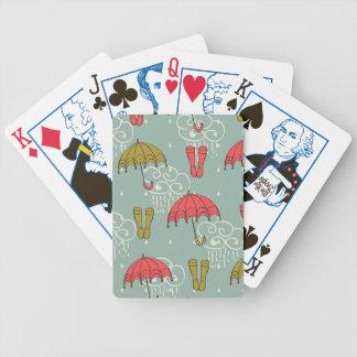 Rainy Season Umbrella Design Bicycle Playing Cards