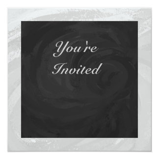 Rainy Sky Gray and Black Monogram 13 Cm X 13 Cm Square Invitation Card