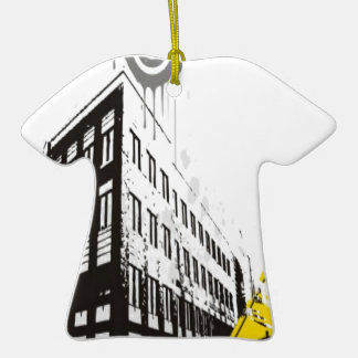 Rainy street illustration design ornament