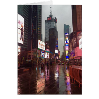 Rainy Times Square New York City NYC Photograph Card
