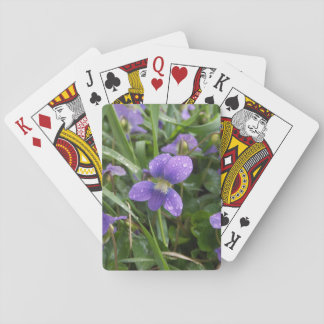 Rainy Violets Playing Cards