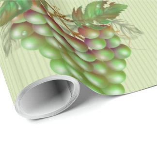 "RAISAIN GRAPES  30"" x 15'  CARTOON Wrapping Paper2 Wrapping Paper"