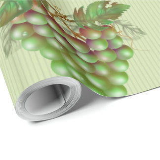"RAISAIN GRAPES  30"" x 30'  CARTOON Wrapping Paper2 Wrapping Paper"