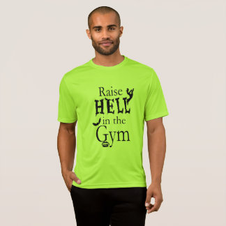 Raise Hell in the Gym Halloween Workout Tshirt Men