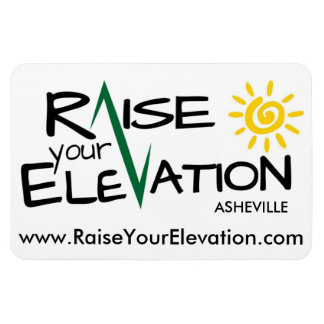 Raise Your Elevation Asheville - Car Magnet