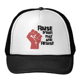 Raise your fist and resist trucker hats