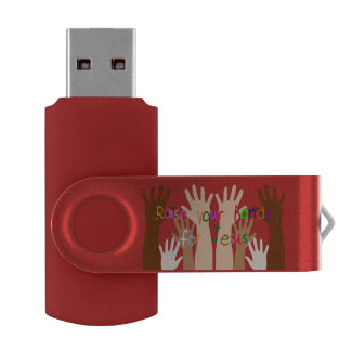Raise Your Hand for Jesus Swivel USB 3.0 Flash Drive