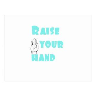 Raise Your Hand Postcard