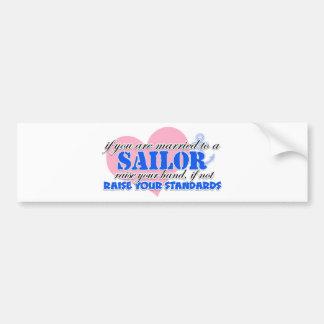 Raise your Hand Sailor Bumper Sticker