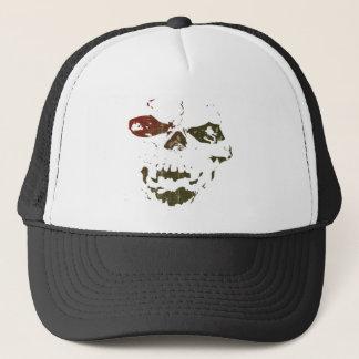 Raised By Demons skull logo Trucker Hat
