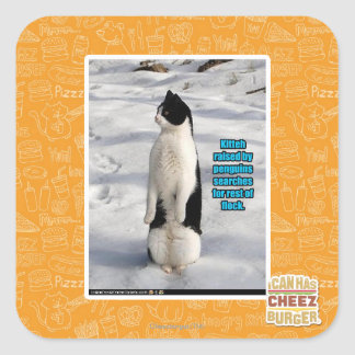 Raised by Penguins Square Sticker