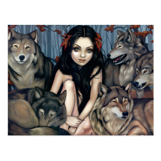 Raised by Wolves Postcard