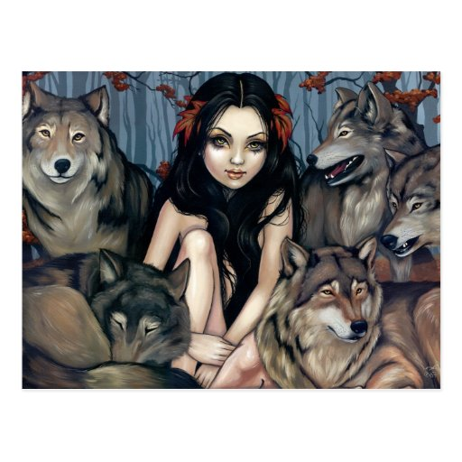 """""""Raised by Wolves"""" Postcard"""