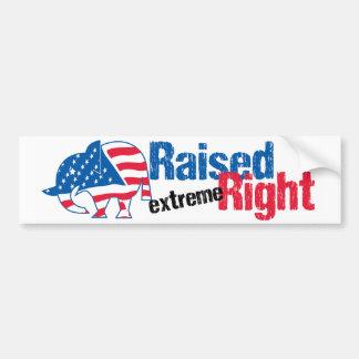 Raised Extreme Right - Republican Bumper Sticker