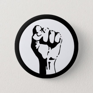 Raised Fist 6 Cm Round Badge