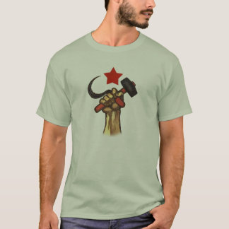 Raised Fist Hammer and Sickle shirt