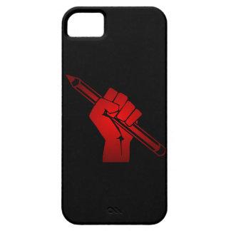 Raised Fist Holding Pencil iPhone 5 Case
