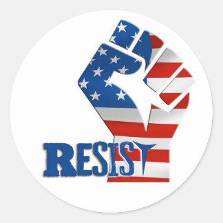 Raised Fist Resist Symbol Decal Round Sticker
