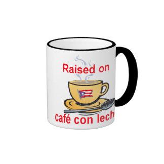 raised on cafe con leche coffee mug