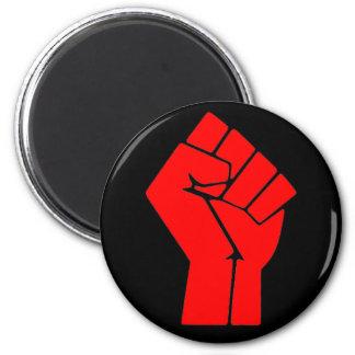 Raised Red Fist 6 Cm Round Magnet