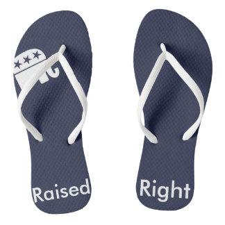 Raised Right Republican Flip Flops Thongs