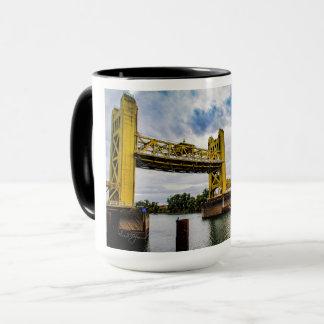 Raised Sacramento Tower Bridge & Pirate ship Mug