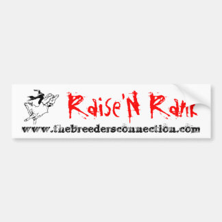 Raise'N Rank Bumper Sticker