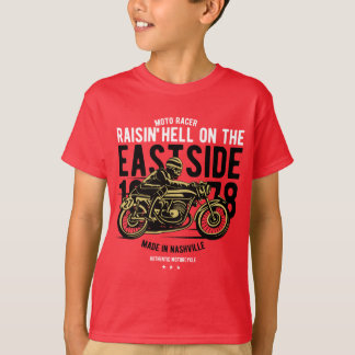 Raisin Hell Moto Racer Kids' TAGLESS® T-Shirt