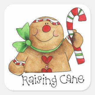 Raising Cane Gingerbread Man Sticker Label