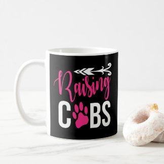Raising Cubs Pink White Black Coffee Mug