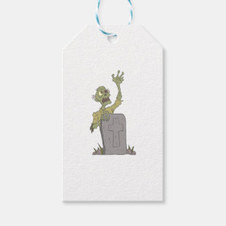 Raising From The Grave Creepy Zombie With Rotting Gift Tags